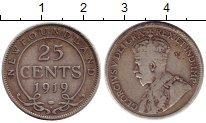 Изображение Монеты Ньюфаундленд 25 центов 1919 Серебро VF Георг V