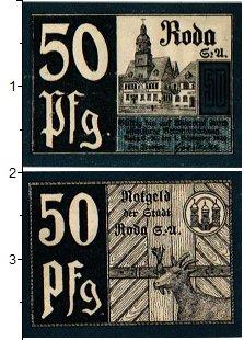Изображение Банкноты Германия : Нотгельды 50 пфеннигов 1920  XF Рода