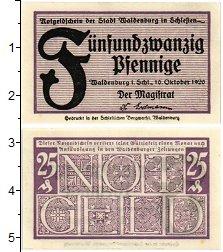 Изображение Банкноты Германия : Нотгельды 25 пфеннигов 1920  UNC-