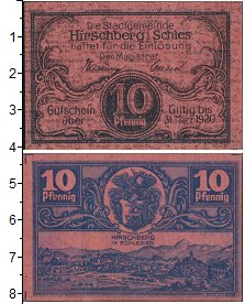 Изображение Банкноты Германия : Нотгельды 10 пфеннигов 1920  UNC-