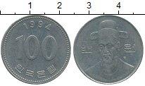 Изображение Дешевые монеты Южная Корея 100 вон 1994