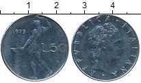 Изображение Дешевые монеты Италия 50 лир 1979 нержавеющая сталь
