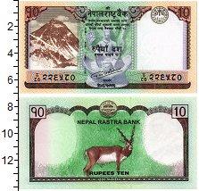 Изображение Банкноты Непал 10 рупий 2017  UNC Антилопа