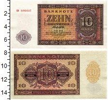 Изображение Банкноты ГДР 10 марок 1955  UNC