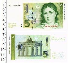 Изображение Банкноты ФРГ 5 марок 1991  UNC