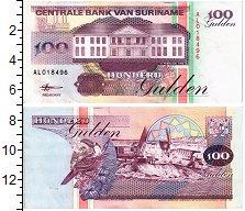 Изображение Банкноты Южная Америка Суринам 100 гульденов 1998  XF