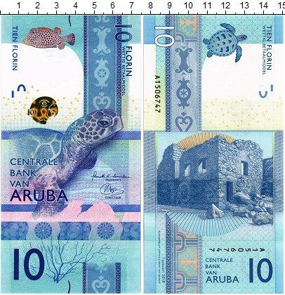 Изображение Банкноты Аруба 10 флоринов 2019  UNC