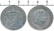 Изображение Монеты Нидерланды 1 гульден 1952 Серебро XF Юлиана