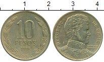 Изображение Монеты Чили 10 песо 1996 Латунь XF