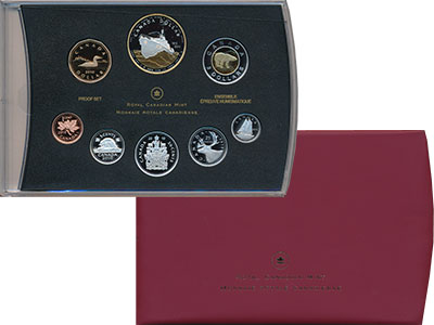 Изображение Подарочные монеты Канада Набор 2010 года Пруф 2010  Proof