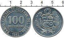 Изображение Монеты Перу 100 соль 1982 Медно-никель UNC-