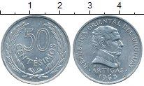 Изображение Монеты Уругвай 50 сентесим 1965 Алюминий UNC