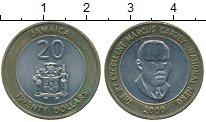 Изображение Монеты Ямайка 20 долларов 2000 Биметалл XF