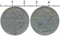Изображение Монеты Бельгийское Конго 50 сантим 1926 Медно-никель XF- Альберт I