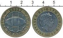 Изображение Монеты Великобритания 2 фунта 1999 Биметалл UNC-