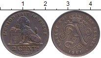 Изображение Монеты Бельгия 2 сантима 1911 Бронза XF-