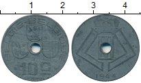 Изображение Монеты Бельгия 10 сантим 1944 Цинк XF