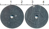 Изображение Монеты Бельгия 10 сантим 1943 Цинк XF