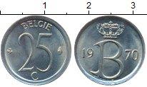 Изображение Монеты Бельгия 25 сантим 1970 Медно-никель UNC-