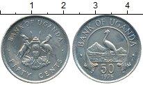 Изображение Монеты Уганда 50 центов 1976 Медно-никель XF