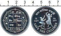 Изображение Монеты Непал 250 рупий 1990 Серебро Proof-