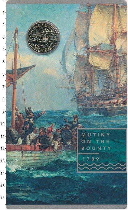 Изображение Подарочные монеты Австралия 1 доллар 2019 Латунь UNC