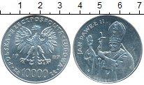 Изображение Монеты Польша 10000 злотых 1987 Серебро XF
