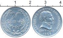 Изображение Монеты Уругвай 20 сентесим 1965 Алюминий XF Артигас