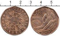 Изображение Монеты Австрия 5 евро 2013 Медь UNC- Шладминг Горнолыжник