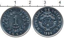 Изображение Монеты Северная Америка Коста-Рика 1 колон 1984 Медно-никель XF