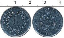 Изображение Монеты Коста-Рика 1 колон 1982 Медно-никель XF