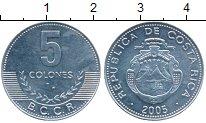 Изображение Монеты Коста-Рика 5 колон 2005 Алюминий UNC-