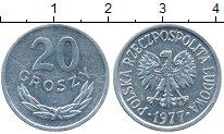 Изображение Монеты Польша 20 грош 1977 Алюминий XF