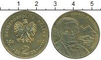 Изображение Мелочь Польша 2 злотых 2007 Латунь UNC- Игнасий  Домейко