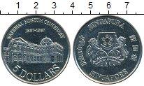 Изображение Монеты Сингапур 5 долларов 1987 Медно-никель UNC 100 - летие  Национа