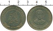 Изображение Монеты Албания 50 лек 2002 Латунь XF