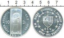 Изображение Монеты Андорра 10 динерс 1993 Серебро Proof- Святой Георгий. Тамо