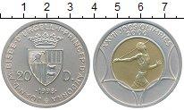 Изображение Монеты Андорра 20 динерс 1998 Серебро UNC