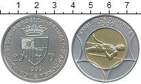 Изображение Монеты Андорра 20 динерс 1999 Серебро UNC Олимпиада 2000,  пры