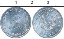 Изображение Монеты Албания 10 киндарка 1964 Алюминий UNC