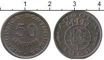 Изображение Монеты Ангола 50 сентим 1958 Бронза XF