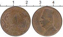 Изображение Монеты Египет 1 миллим 1935 Бронза VF Фуад I
