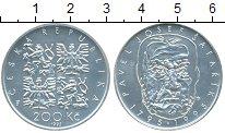 Изображение Монеты Чехия 200 крон 1995 Серебро UNC