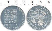 Изображение Монеты Чехия 200 крон 1995 Серебро UNC 50 лет ООН