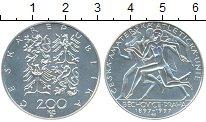 Изображение Монеты Чехия 200 крон 1997 Серебро UNC Чешский любительский