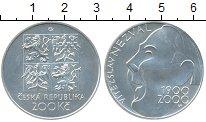 Изображение Монеты Чехия 200 крон 2000 Серебро UNC 100 лет со дня рожде