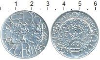 Изображение Монеты Чехия 200 крон 2001 Серебро UNC Евро Валютная систем