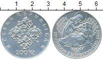 Изображение Монеты Чехия 200 крон 2002 Серебро UNC 750  лет  Святой  Зд