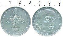 Изображение Монеты Чехия 200 крон 2005 Серебро UNC 450 лет со дня рожде