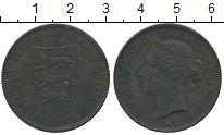 Изображение Монеты Остров Джерси 1/12 шиллинга 1881 Бронза VF Виктория